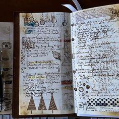 Another week closer to Christmas #midori #midoritravelersnotebook #journal #schedule #travelersnotebook #stickers #artjournal #planneraddict #planner