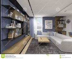 Interior Design In Modern Style Stock Image - Image of modern, open: 59591063