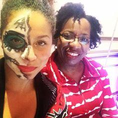 Mom & I working this @canadiannaturalistas Hair Expo! The Dynamic Duo   #mom #momanddaughter #power #empowerment #blackbeauty #hair #curls #kinks #coils #curlyhair #kinkyhair #love