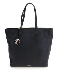 Loving this Black & Silver Leather Tote on #zulily! #zulilyfinds