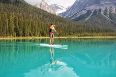 Family Adventures in the Canadian Rockies: Touring the Canadian Rockies on a Stand Up Paddle Board //Victory KoreDry Yoho National Park, National Parks, Sup Stand Up Paddle, Inflatable Paddle Board, Sup Yoga, Standup Paddle Board, Emerald Lake, Sup Surf, Learn To Surf