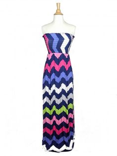 Chevron Print Maxi Dress in Navy Blue - $36.00 : FashionCupcake, Designer Clothing, Accessories, and Gifts