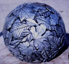 Leaf spheres,with a finish.   DIYmolds.com - Ornamental Concrete Statuary & Casting Forum