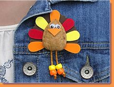 "Turkey Pin is such a cute and clever idea from ""Craft 'n Things"" designed by Linda Valentino."