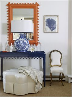 Orange and navy oomph