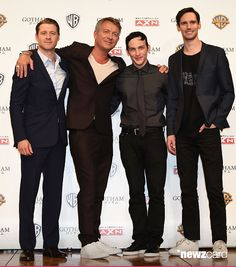 Actors Ben McKenzie, Sean Pertwee, Robin Lord Taylor and Cory Michael Smith attend the press conference for 'Gotham' at The Ritz-Carlton Tokyo on June 11, 2015 in Tokyo, Japan. (Photo by Jun Sato/WireImage)