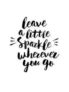Leave a Little Sparkle Wherever You Go Art Print by Brett Wilson at Art.com