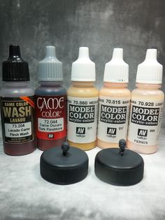 Face painting scale 20mm/28mm tutorial #tutorial #miniatures #painting