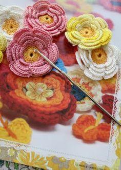 Crocheted flowers...