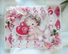 Shabby Chic Angel Baby Valentines Card - Scrapbook.com