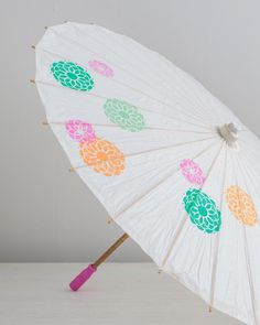 Craft Painting - DIY Stenciled Summer Parasol