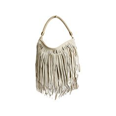 55741a350c74 Alexis Italian Fringed Cream Suede Leather Hobo Satchel Bag - £49.99