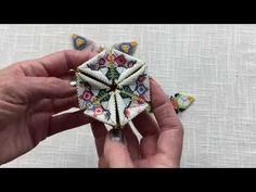 Contemporary Geometric Beadwork: Kaleidocycles and BatCycles - YouTube