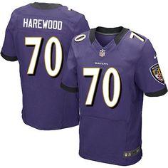 nike nfl baltimore ravens 70 ramon harewood elite purple team color jersey sale