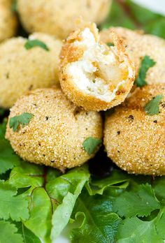 green chile, cheddar, and goat cheese croquettes