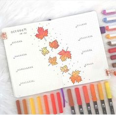 These beautiful fall themed bullet journal pages includes spreads, calendar, and weekly Autumn Bullet Journal, Bullet Journal 2020, Bullet Journal Aesthetic, Bullet Journal Notebook, Bullet Journal Ideas Pages, Bullet Journal Layout, Bullet Journal Inspiration, Bullet Journal Monthly Spread, Bullet Journal October Theme