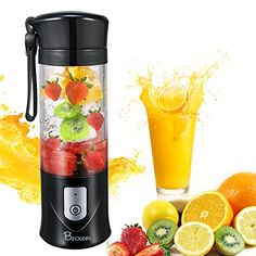Buy Portable Juicer Blender, Beckool Travel Personal USB Mixer Juice Cup with Updated 6 Blades and More Powerful Motor, Water Bottle, Rechargeable Battery-Purple Travel Blender, Mixer, Juicing With A Blender, Juice Blender, Blender Bottle, Hand Held Blender, Electric Juicer, Portable Blender, Drink Containers
