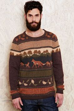 Knitting inspiration: men's patterned sweaters