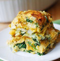 buttnut squah spinach lasagna