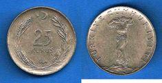 Antiga Lira turca (1923-2005) (x) 25 kurus (1959-1978) O:uma figura feminina…