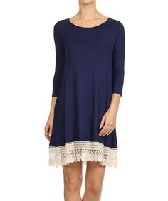 Loving this Navy Lace Dress on #zulily! #zulilyfinds