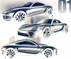 Porsche Design Sketches by Olivier Poulet