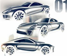 Porsche Design Sketches by Olivier Poulet