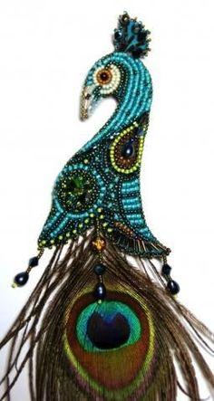 Peacock design ... would make stunning earrings!!