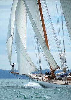 Love sailing.