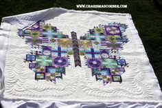 ❤ =^..^= ❤ Jill's version of Tula Pink's Butterfly quilt.  What a beauty!!!!!