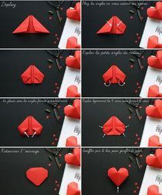 hermosos corazones de origami2