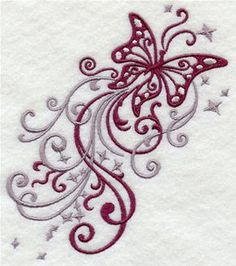 Machine Embroidery Designs at Embroidery Library! - Filigree Birds and Butterflies