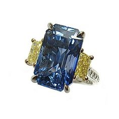 Blue Sapphire and Yellow Diamond Ring - Paolo Costagli