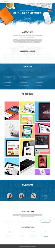 Superb - Responsive One-Page Website Template by WordPress Design Awards, via Behance