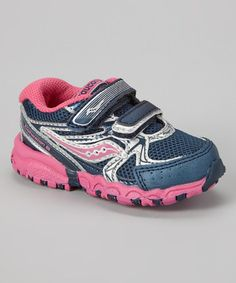 Look what I found on #zulily! Navy & Fuchsia G Baby Cohesion 6 HL Sneaker by Saucony #zulilyfinds