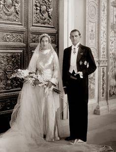 HH.RR.HH. The Infant Juan of Spain and Princess Maria de las Mercedes of Bourbon-Two Sicilies, later Counts de Barcelona,...