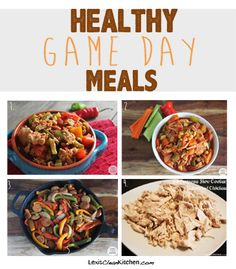 Healthy Game Day Recipes from Lexiscleankitchen.com #glutenfree