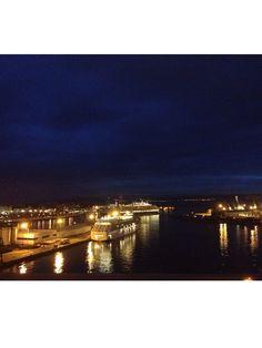 Anochece en La Coruña