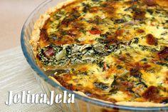 Kiš loren (quiche lorraine) sa blitvom, slaninom, sitnim sirom #food #quichelorraine #veggies