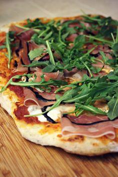 Love This Crazy Life // Halfway Homemade Pizza (Trader Joe's burrata, prosciutto, arugula, balsamic glaze)