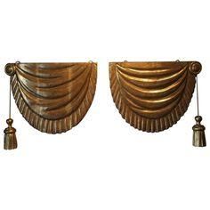 Pair of 19th Century Italian Water Gilded Fragments | 1stdibs.com