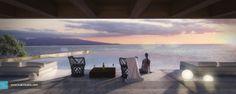 Ibiza House - Kuan Studio / 3D Visualization 3d Architectural Visualization, 3d Visualization, Ibiza, Great Places, Terrace, Exterior, Community, Studio, House