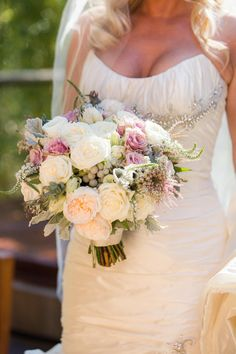This is my wedding bouquet! Bouquet by Asiel Designs. Natural Elegance in Napa on Borrowed & Blue.  Photo Credit: Lily Rose Photography