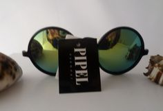 """Vintage Brillen - ☮ Sonnenbrille """"Hippie-Style""""Schwarz-Bunt☮ - ein Designerstück von Camden-Market bei DaWanda"""