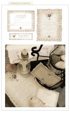 Message in a bottle - Our Destination wedding invite - Just found it ln her site - Love it!!!!  Silverbox Creative
