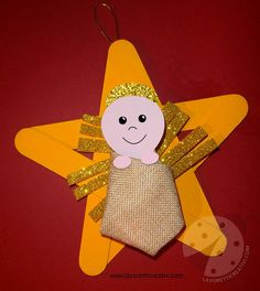 Estrella de Jesús Preschool Christmas Crafts, Christmas Crafts For Kids To Make, Nativity Crafts, Toddler Christmas, A Christmas Story, Kids Christmas, Christmas Ornaments, Jesus Crafts, Bible Crafts