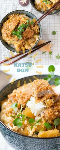 Katsudon is a delicious Japanese dish made with rice topped with Tonkatsu…