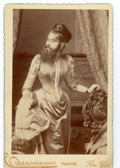 The Bearded Lady  Annie Jones (c. 1860 – 1902) was an American bearded woman, born in Virginia. She toured with showman P. T. Barnum as a circus attraction. It is unconfirmed if this was a case of hirsutism or an unrelated genetic condition that affects children of both sexes and continues into adult years.