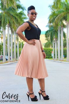 Love the skirt!  Color and pleats are great