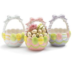 EASTER BASKET CANDY DISH